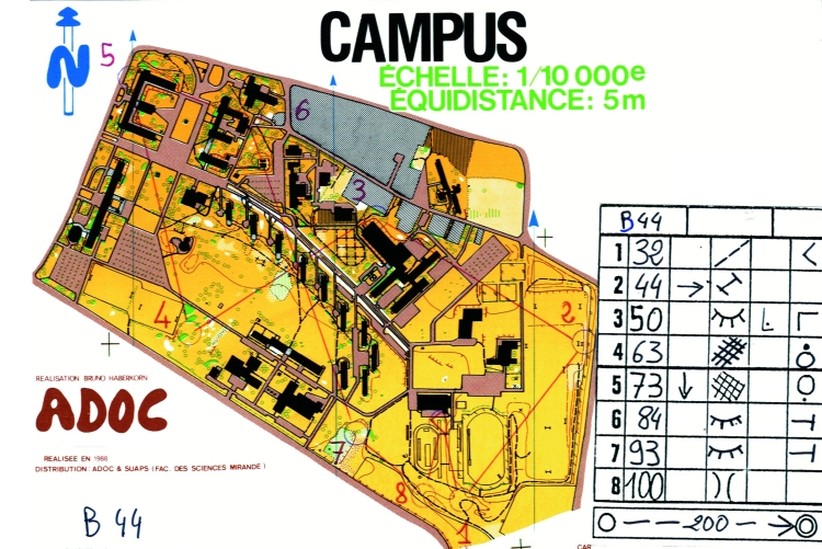carte campus coureur